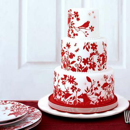 Белый узор на торте